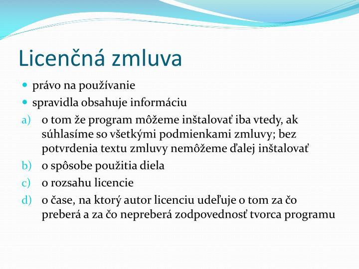 Licenčná zmluva