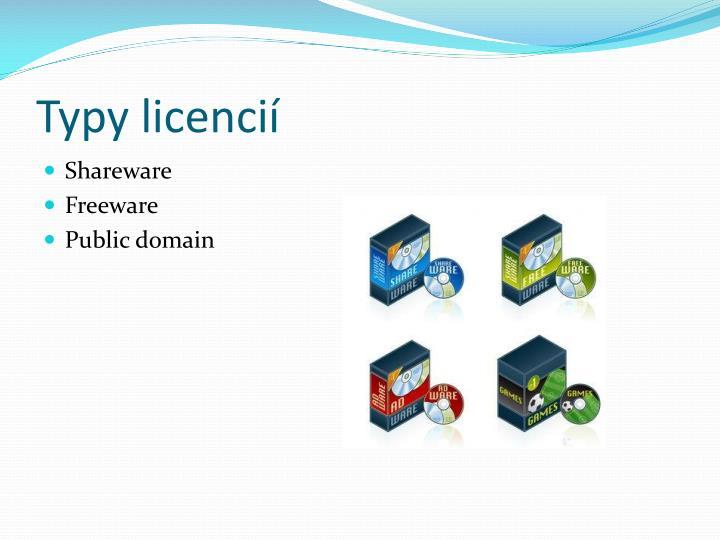 Typy licencií