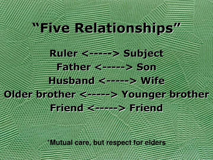 """Five Relationships"""