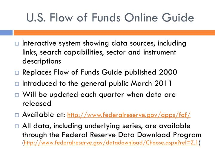 U.S. Flow of Funds Online Guide