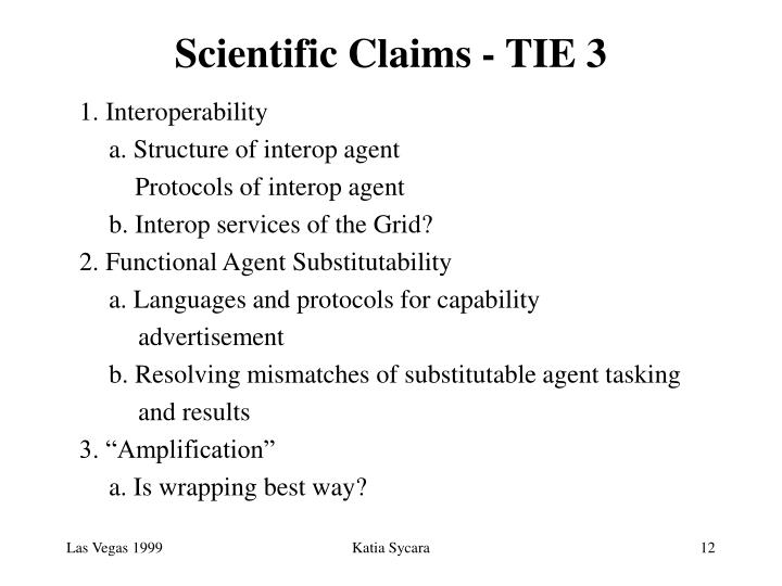 Scientific Claims - TIE 3