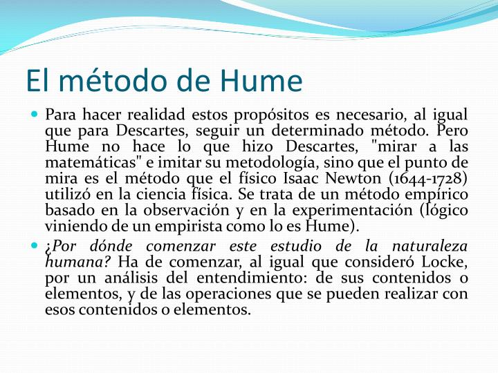 El método de Hume