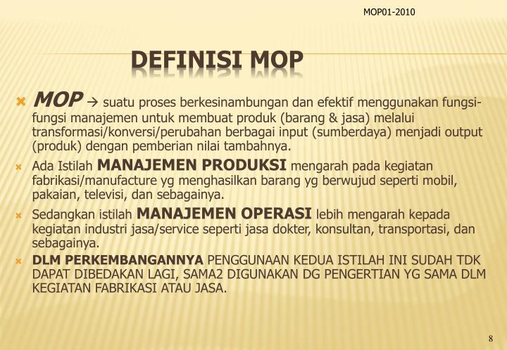 Definisi MOP