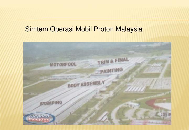 Simtem Operasi Mobil Proton Malaysia
