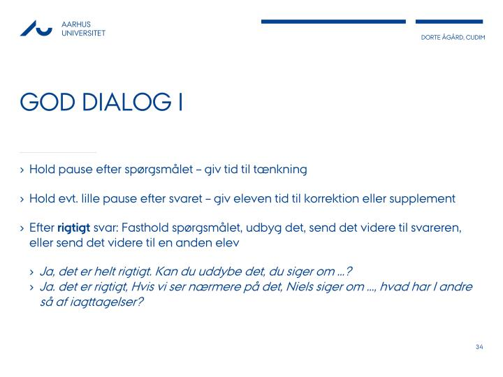 God dialog I