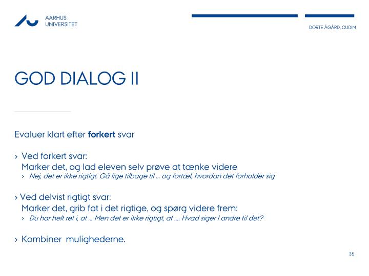 God dialog II