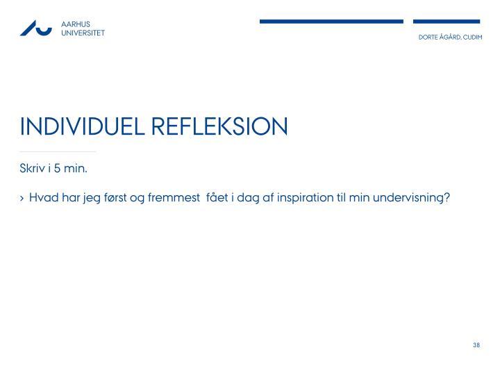 Individuel refleksion