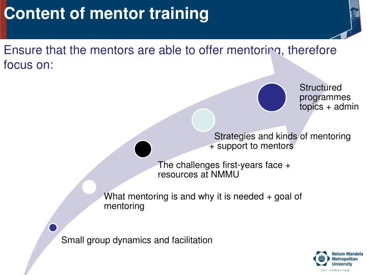 Content of mentor training
