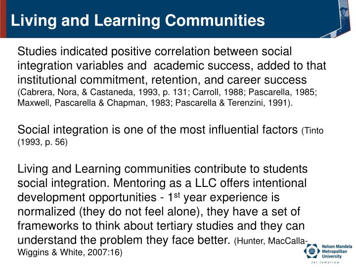 Living and Learning Communities