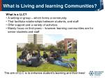 what is living and learning communities