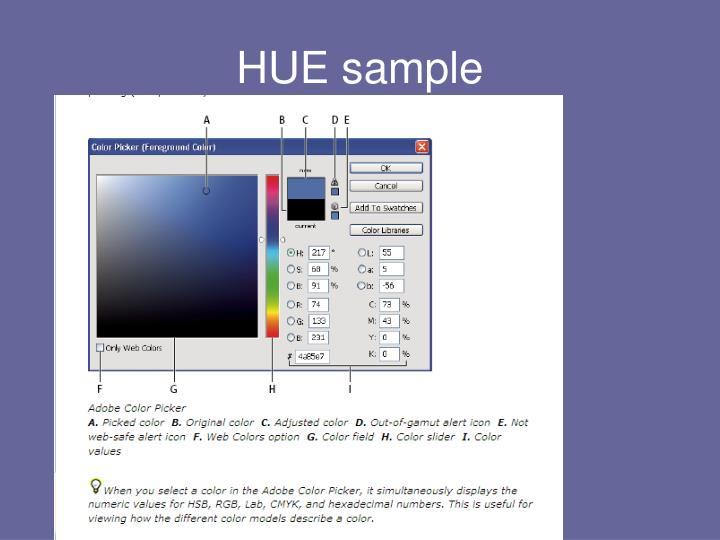 HUE sample