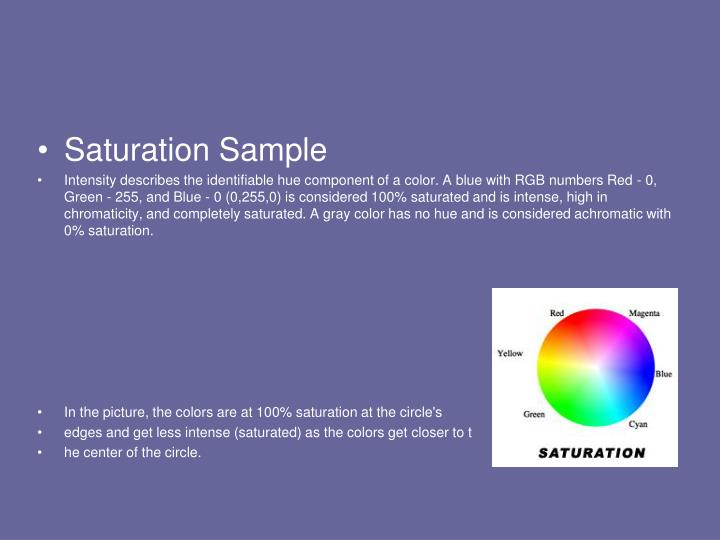 Saturation Sample