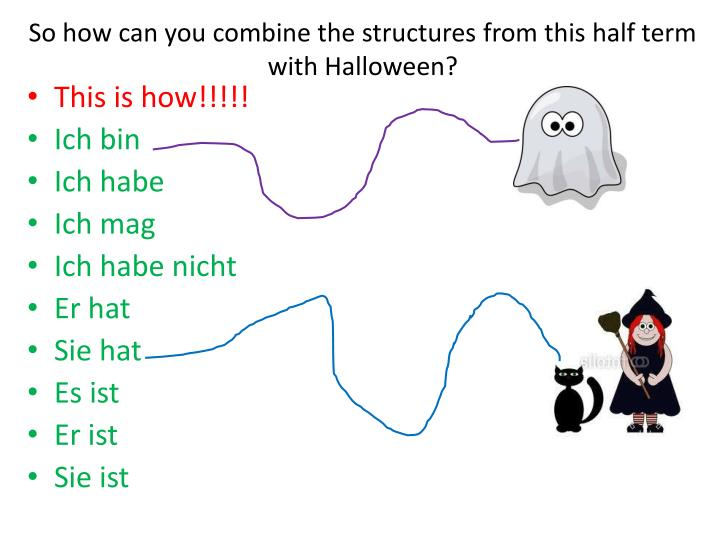 So how can you combine the structures from this half term with Halloween?