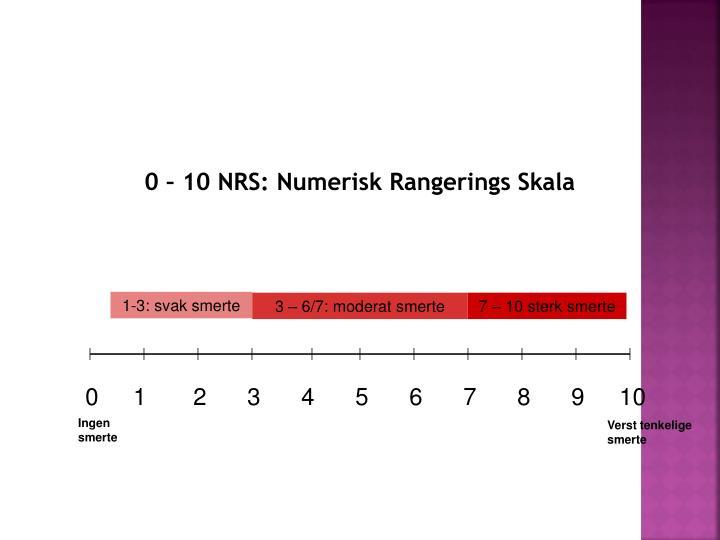 0 – 10 NRS: