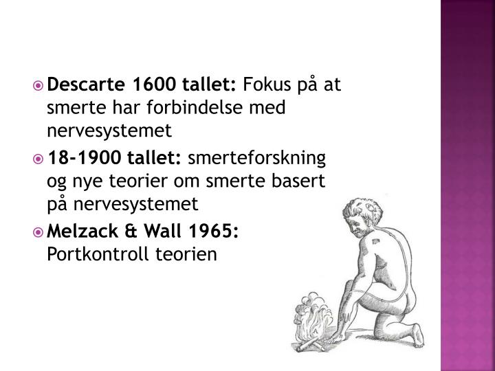 Descarte 1600 tallet: