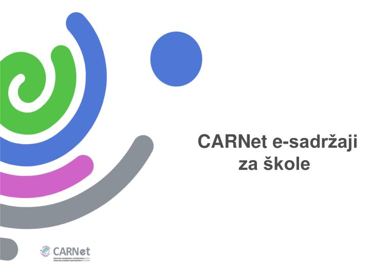 CARNet e-sadržaji