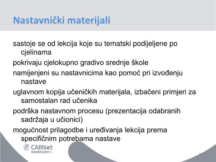 Nastavnički materijali