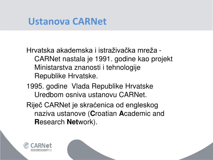 Ustanova CARNet
