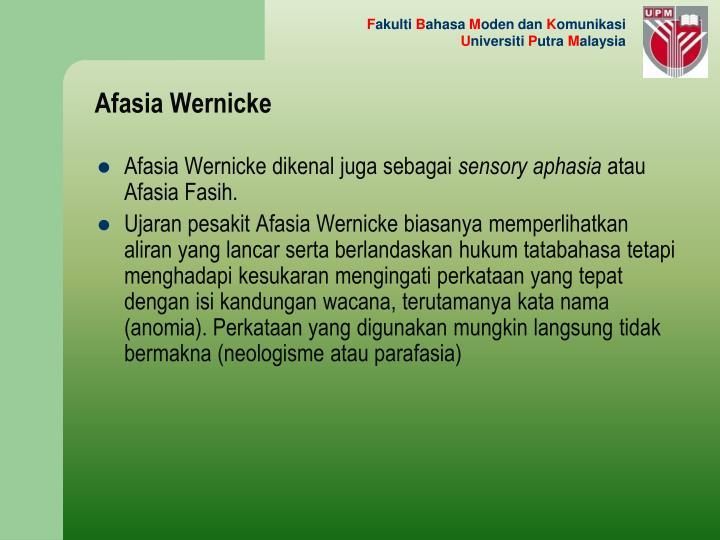 Afasia Wernicke