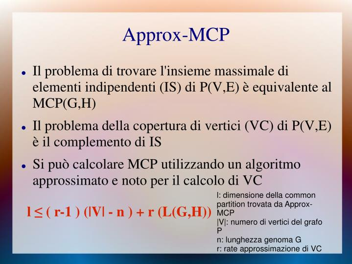 Approx-MCP