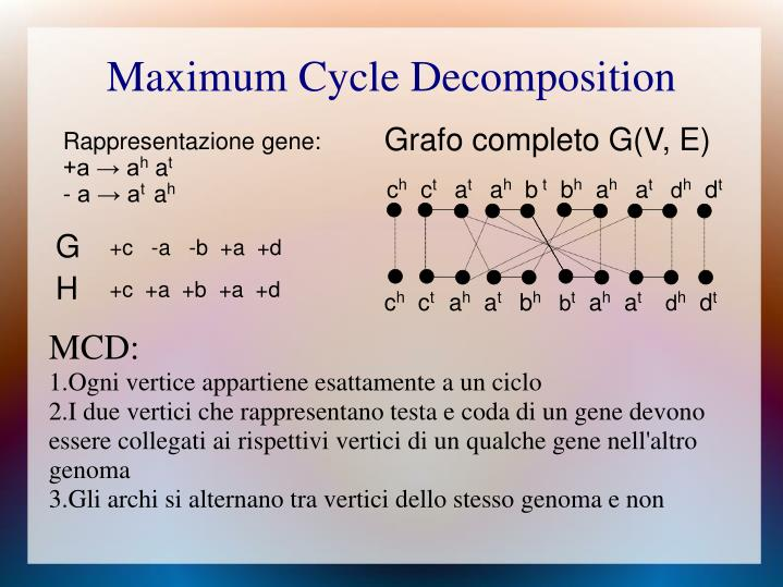 Maximum Cycle Decomposition