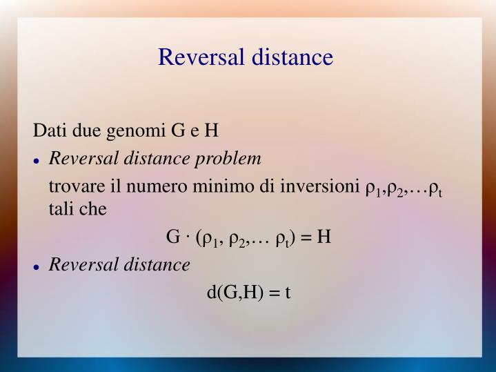 Reversal distance