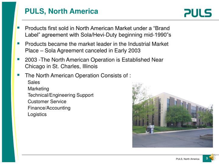 PULS, North America