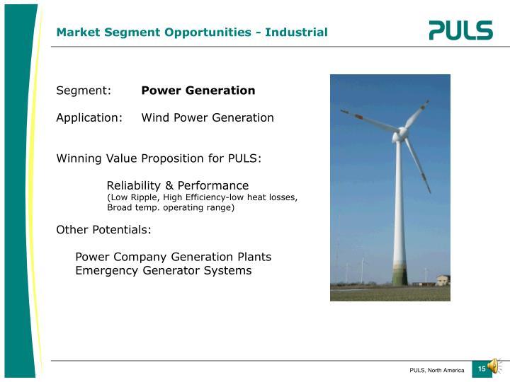 Market Segment Opportunities - Industrial
