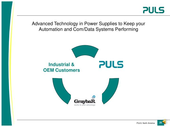 Advanced Technology in Power Supplies to Keep your Automation and Com/Data Systems Performing