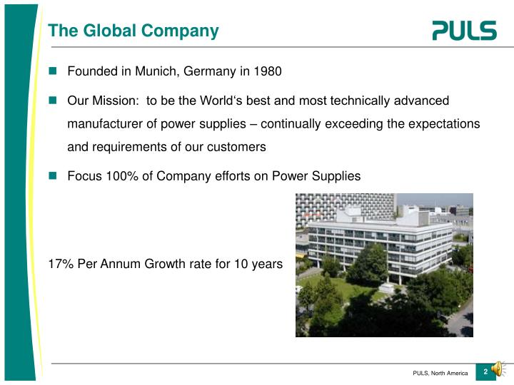 Founded in Munich, Germany in 1980