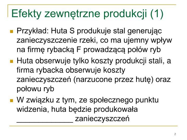 Efekty zewnętrzne produkcji (1)