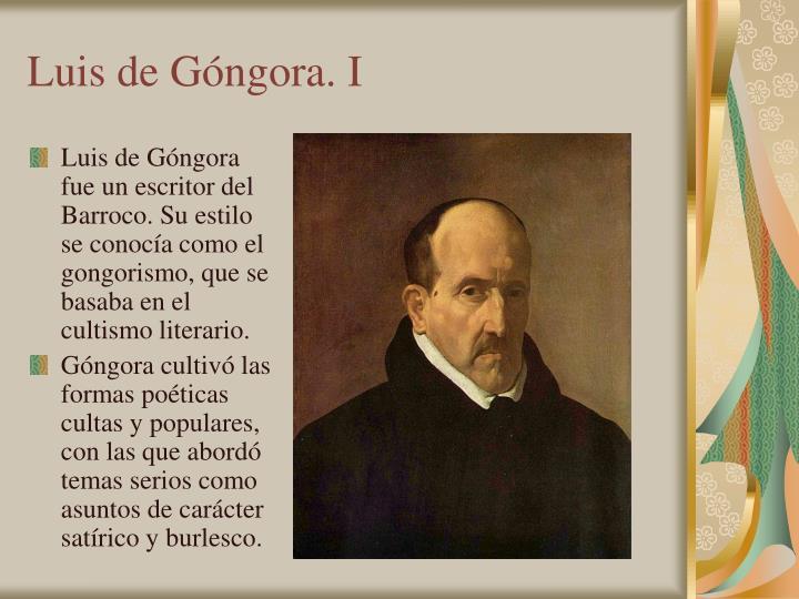 Luis de Góngora. I