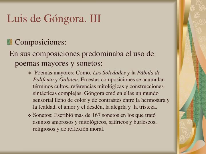 Luis de Góngora. III