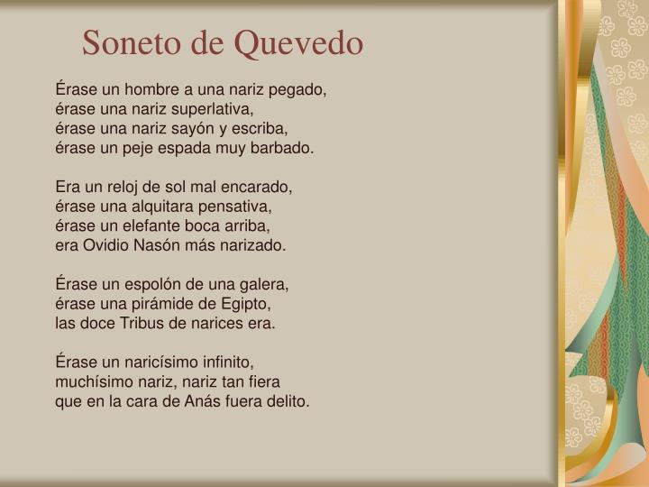 Soneto de Quevedo
