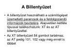 a billenty zet