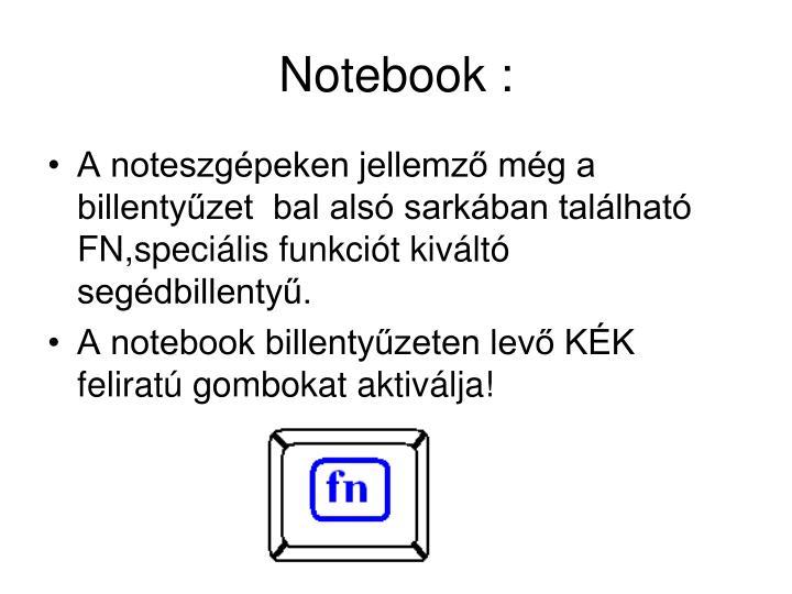 Notebook :