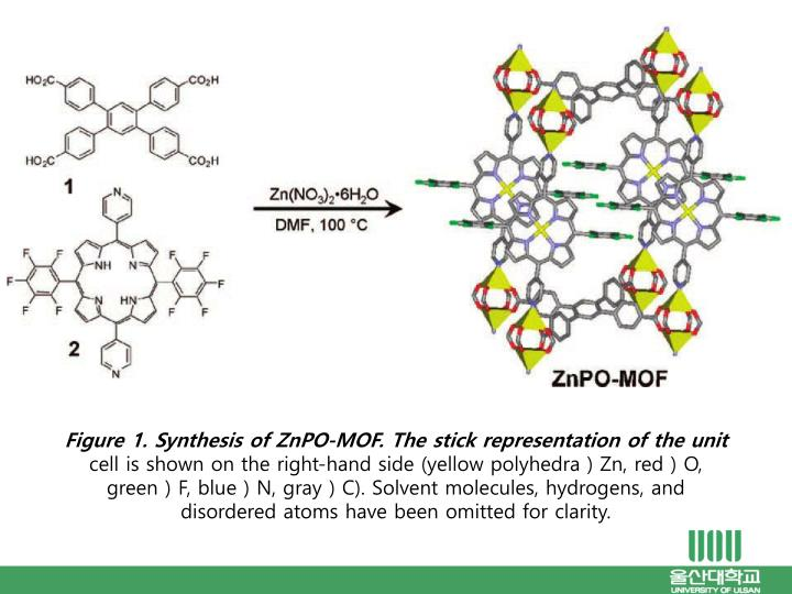 Figure 1. Synthesis of ZnPO-MOF. The stick representation of the unit