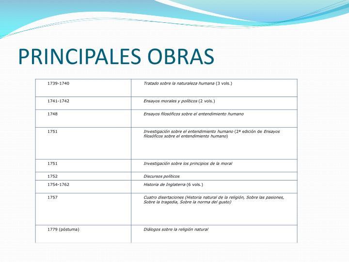 PRINCIPALES OBRAS