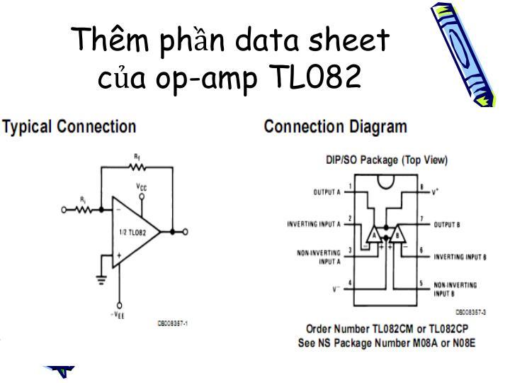 Thêm phần data sheet của op-amp TL082