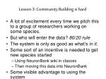 lesson 3 community building is hard