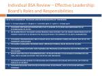 individual bsa review effective leadership board s roles and responsibilities
