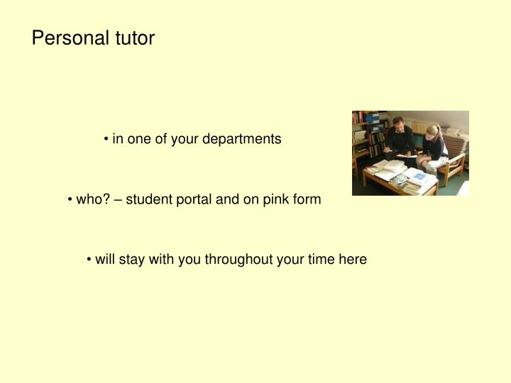 Personal tutor