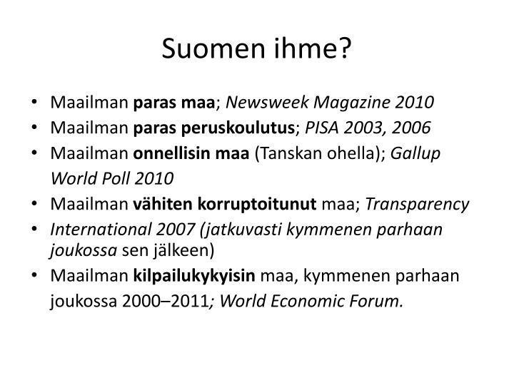 Suomen ihme?