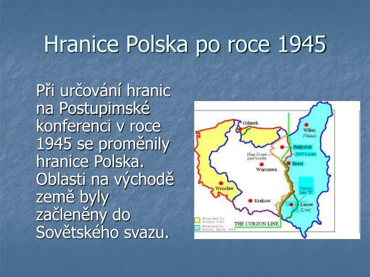 Hranice Polska po roce 1945
