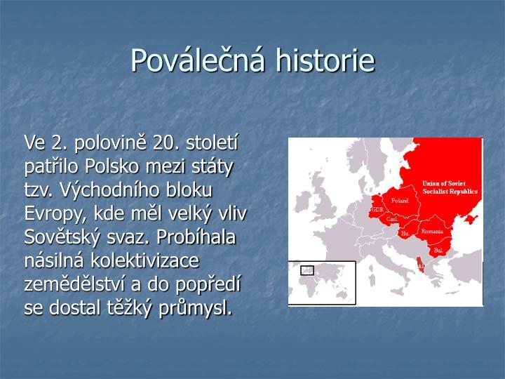 Poválečná historie