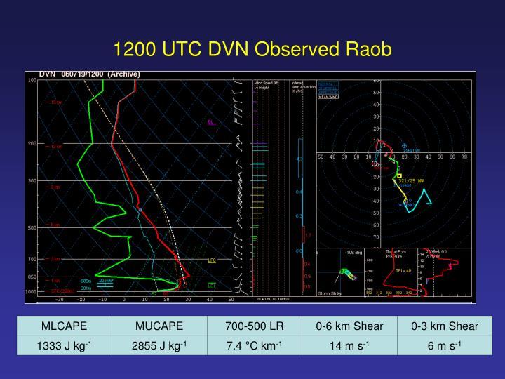 1200 UTC DVN Observed Raob