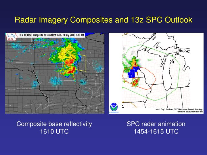 Radar Imagery Composites and 13z SPC Outlook