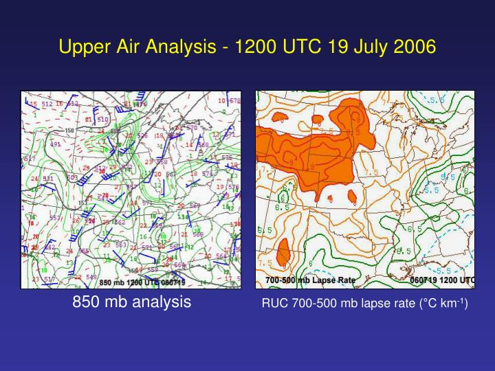 Upper Air Analysis - 1200 UTC 19 July 2006