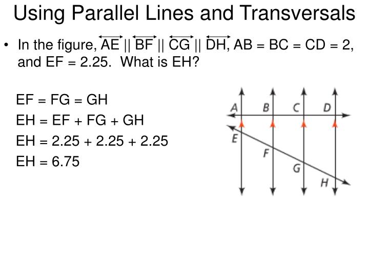 Using Parallel Lines and Transversals