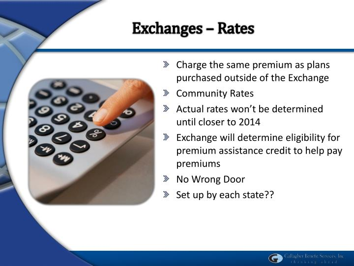 Exchanges – Rates